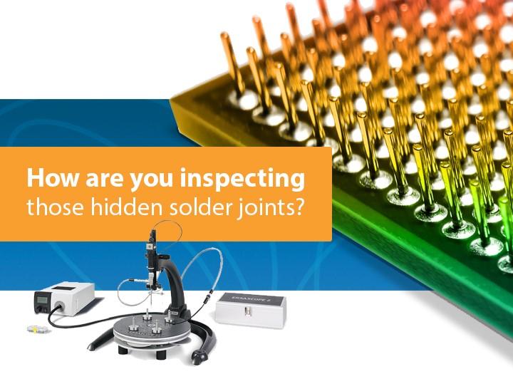 Inspecting hidden solder connections