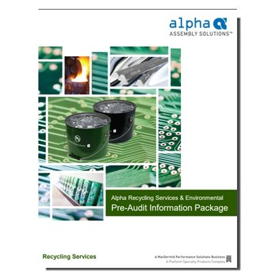 Alpha Recycling Pre-Audit Package